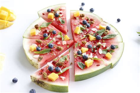 watermelon pizza  fit foodie