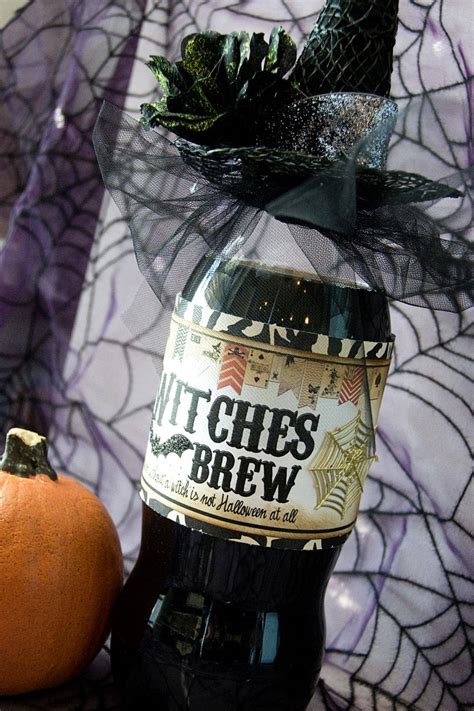 brew witches halloween drink gift recipe diet coke dishmaps bottle much witch husband cute bottles spooky label making too soda