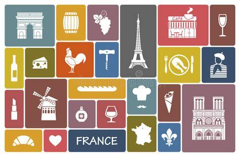 Symbols Of France Stock Vector. Illustration Of Landmarks