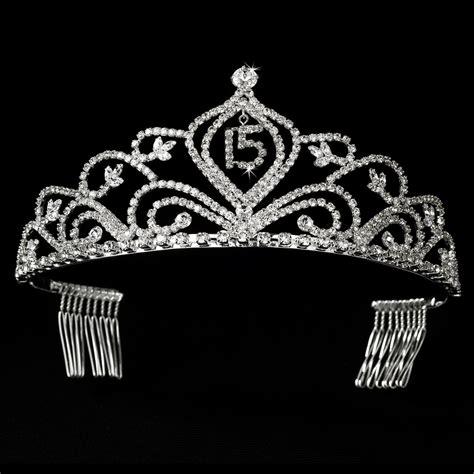 large rhinestone silver covered sweet rhinestone sweet 15 quincea 241 era tiara sparkling