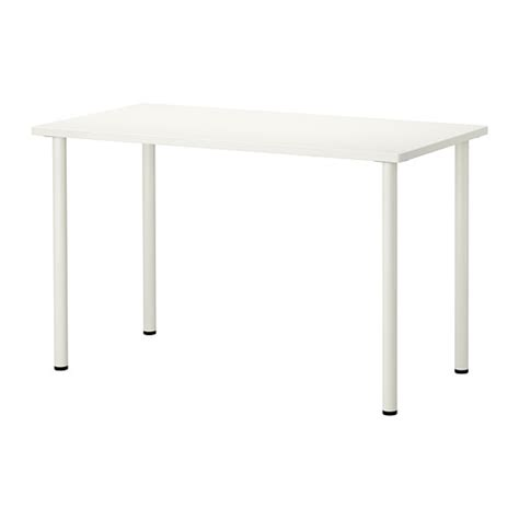 pieds de bureau ikea hissmon adils table blanc ikea