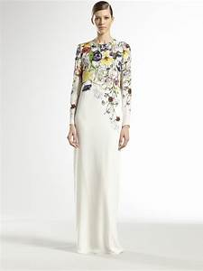 gucci silk flora infinity gown in white lyst With gucci wedding dress