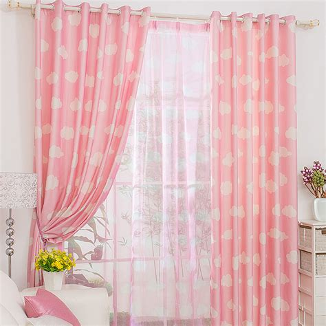 Pink Curtains by Casual Clouds Patterned Pink Curtains
