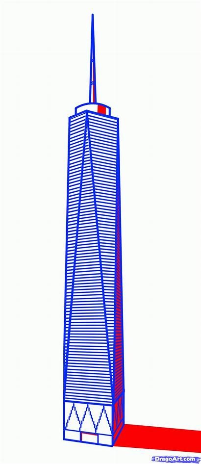 Freedom Tower Trade Center Draw Step Drawing