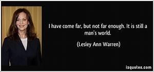 Lesley Ann Warr... Leslie Ann Quotes
