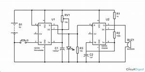 Doorbell Circuit Diagram Using Ic 555