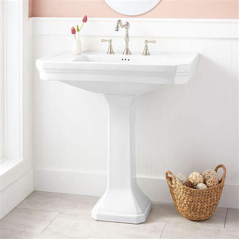 Kacy Porcelain Pedestal Sink Pedestal Sink Sinks And