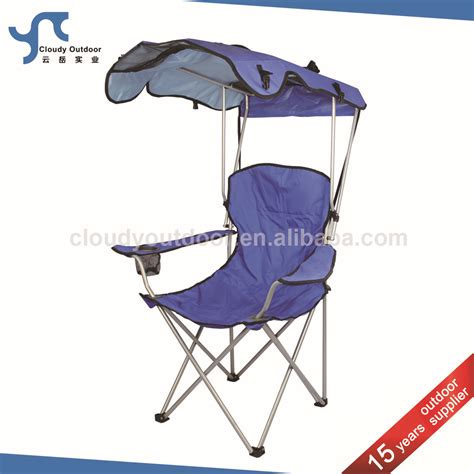 chaise plage foldable sunshade folding cing chair with canopy
