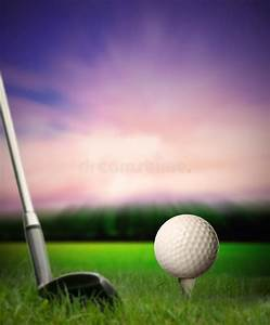 Golf Ball On Tee Being Hit With Club Stock Images - Image ...