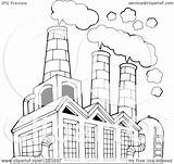 Factory Air Building Clipart Pollution Clip Polluting Coloring Outlined Illustration Vector Royalty Smoke Visekart Sketch Pages Template 1080 1024 Kid sketch template
