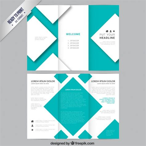 brochure template  squares vector