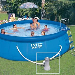 Piscine Intex Hors Sol : piscine hors sol autoportante gonflable easy set intex ~ Dailycaller-alerts.com Idées de Décoration