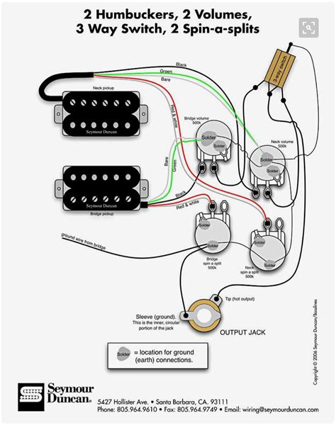 Humbuckers Volumes Switch Spin Splits