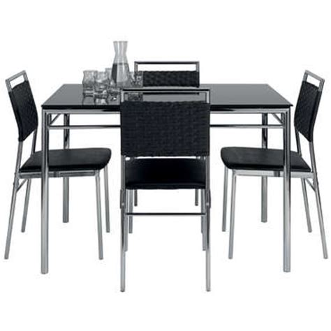 table et chaise conforama ensemble table et de 4 chaises jade coloris noir vente