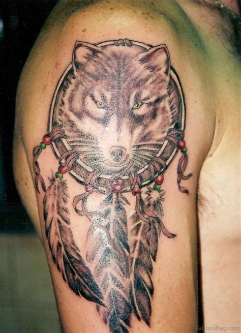 elegant wolf tattoos  shoulder