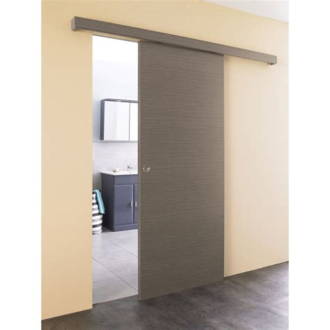 kit porte coulissante taupe r 233 f b1r26550125 batipass