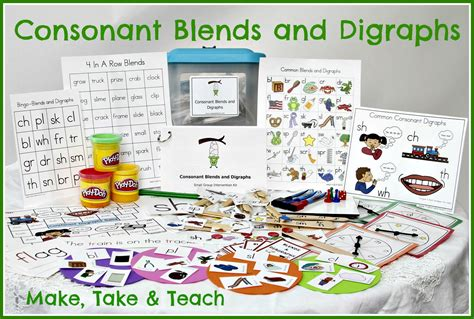 teaching blends and digraphs make take teach