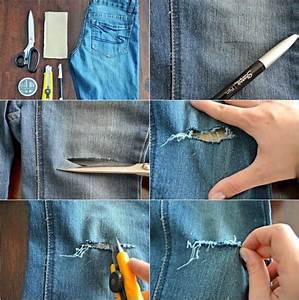 Comment Réparer Un Liner Déchiré : comment faire un jean trou femme la tendance irr sistible ~ Maxctalentgroup.com Avis de Voitures