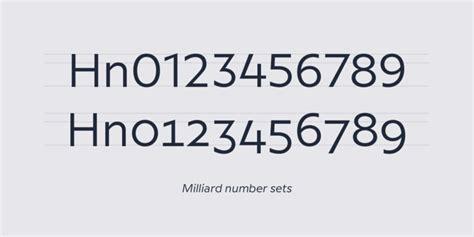 milliard font family befontscom