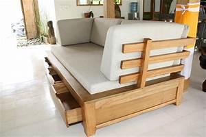 Photos canape en bois exotique for Canape angle bois