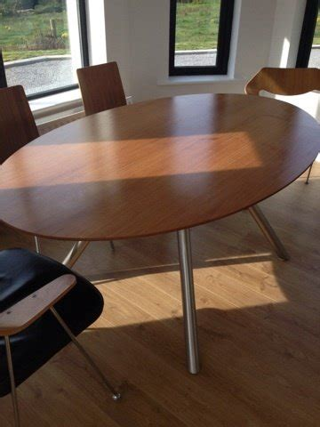 Habitat Oval Dining Table With Six Chairs For Sale in