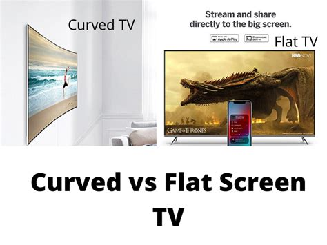 tvs curved flat rated vs