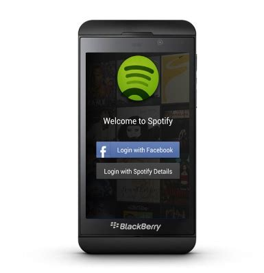 spotify app coming to blackberry 10