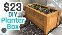 build a planter box $23 DIY Planter Box - YouTube