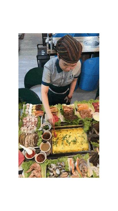 Buffet Seafood Omelette Roll Steamboat Bbq Flow
