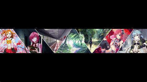 anime youtube channel art anime channel banner free dload youtube