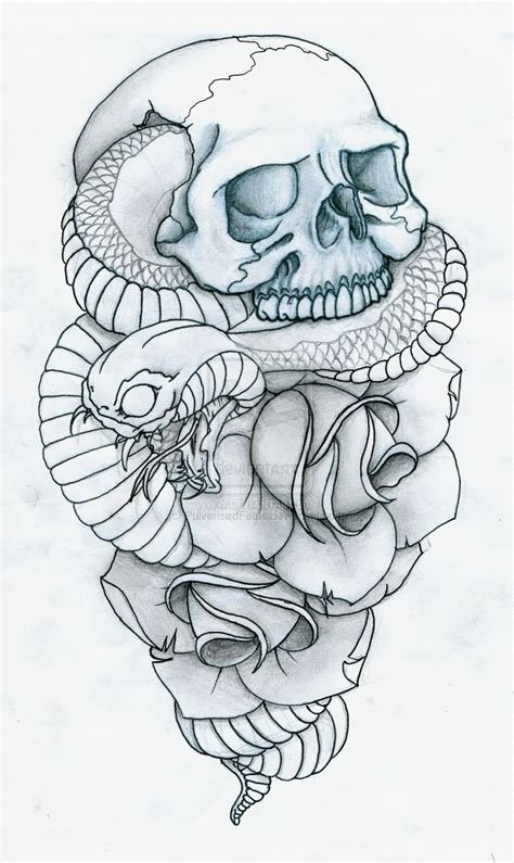 vampire skull tattoo designs