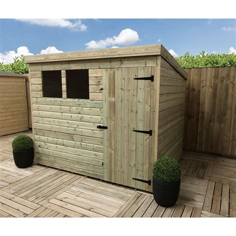 8 By 4 Shed by 8 X 4 Pressure Treated Tongue And Groove Pent Shed With 2