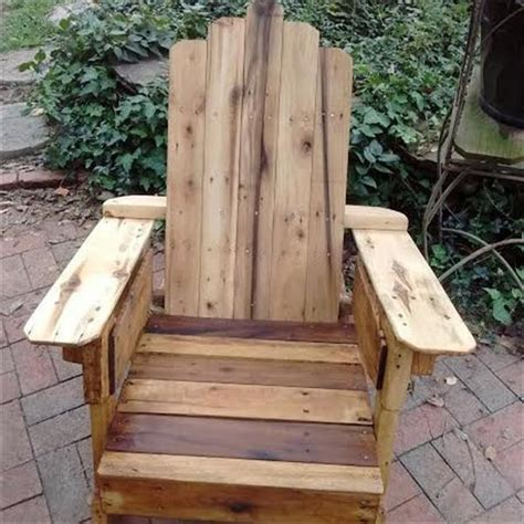 pallet adirondack chair plans rustic wood pallet adirondack chair pallet furniture plans