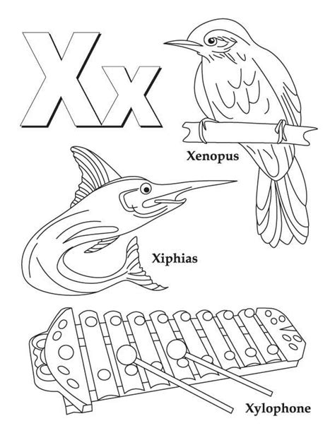 Coloring X Letter Page by My A To Z Coloring Book Letter X Coloring Page Literte