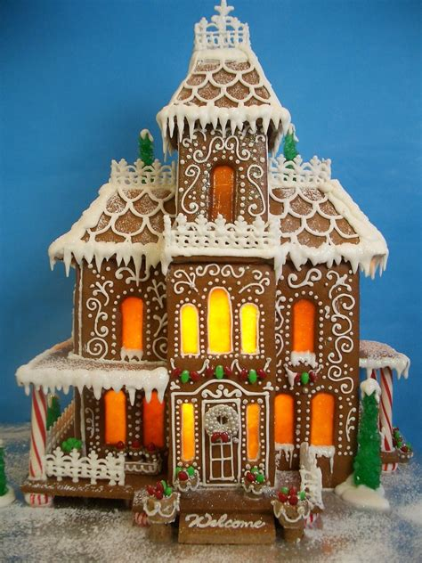 victorian gingerbread mansion cakecentralcom