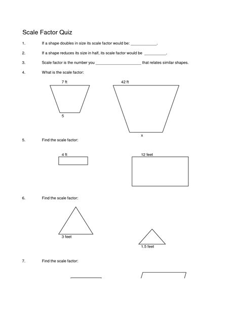 8th grade math scale factor worksheets 1000 images about