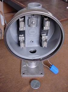 240v Electric Watthour Meter Socket Base Can Mount