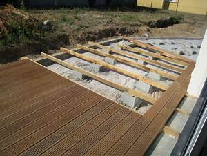 terrasse bois plot beton 0 lzzy co pose sur newsindoco With terrasse en bois sur plot