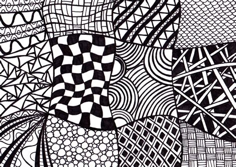 Abstract And Black Pattern by Black And White Printable Zentangle Inspired Ink Drawing