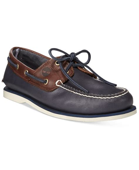 Timberland Blue Boat Shoes Mens by Timberland S Classic 2 Eye Boat Shoes In Brown For