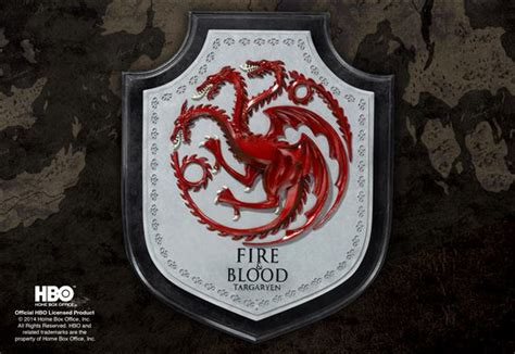 of thrones blason de la maison targaryen www noblecollection fr