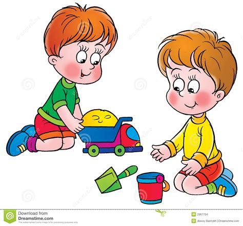 Spielendes Comic by Spiel Stock Abbildung Illustration Kindheit
