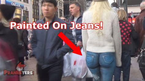 girl walks  nyc   pantssocial experiment