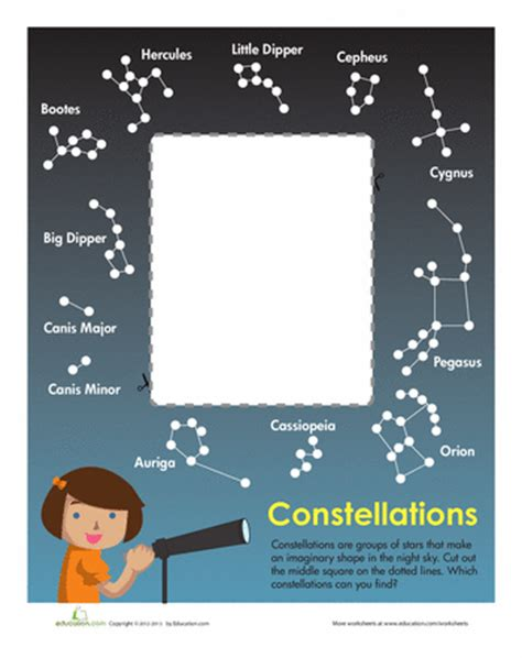 constellation of aquarius worksheet constellation chart cc cycle 2 science science