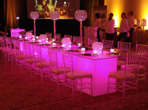 runway glow tables event lighting orlando