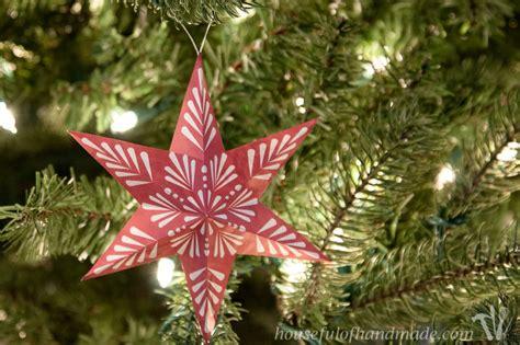 printable  snowflake star ornaments houseful  handmade