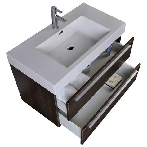 modern bathroom vanity grey oak wall mount