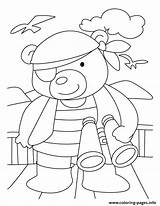 Bear Coloring Pages Detective Printable Brown Popular sketch template