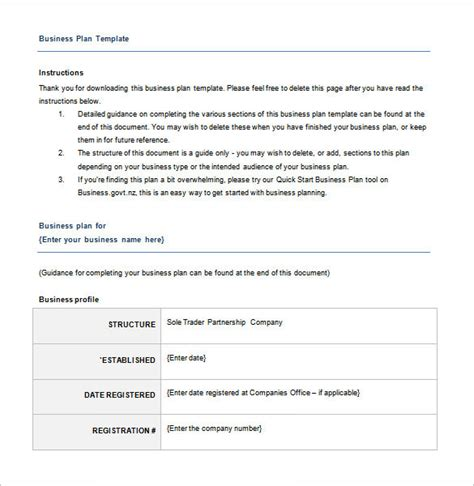 Business Plan Template Free by Business Plan Template 97 Free Word Excel Pdf Psd