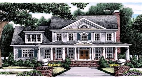 colonial style house floor plans youtube